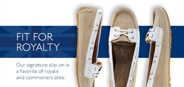 Our signature slip-on is a favorite of royals and commoners alike.