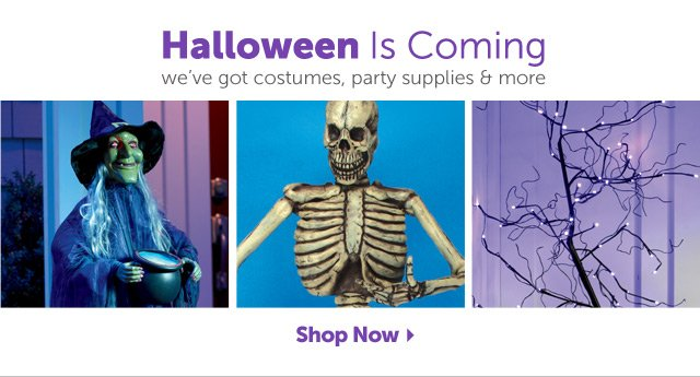 Halloween Is Coming - we've got costumes, party supplies & more - Shop Now