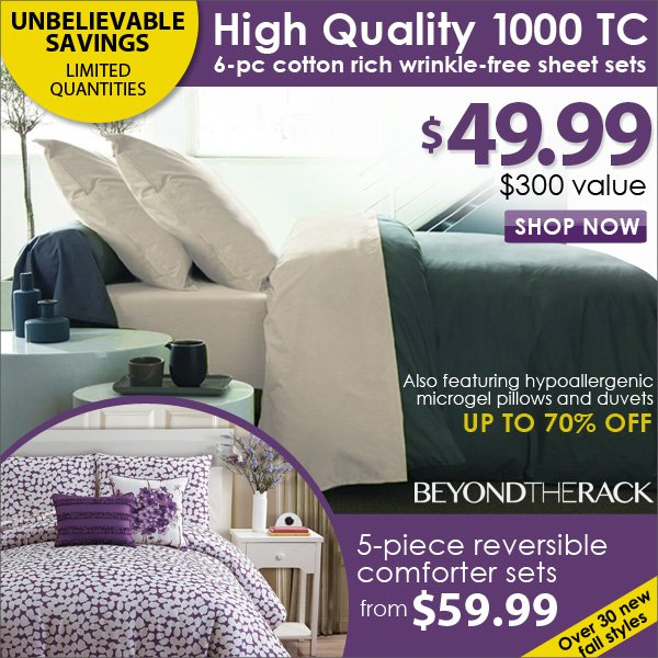 1000 Thread Count Wrinkle Free Sheet Sets