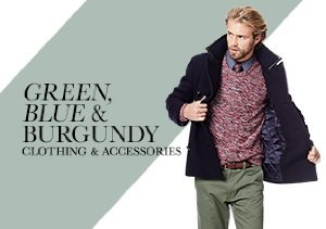 FALL 2013: GREEN, BLUE & BURGUNDY CLOTHING & ACCESSORIES
