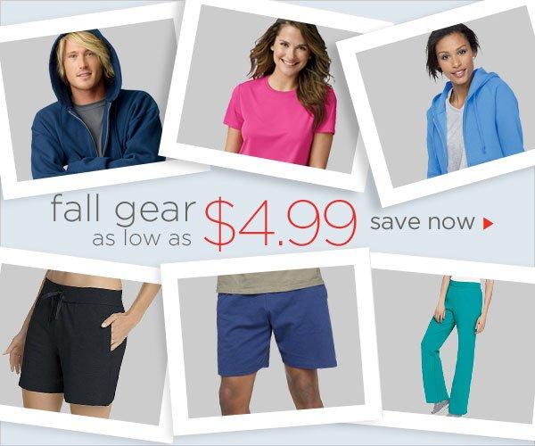 Fall Gear as low as $4.99
