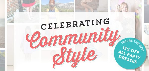 Celebrating Community Sale