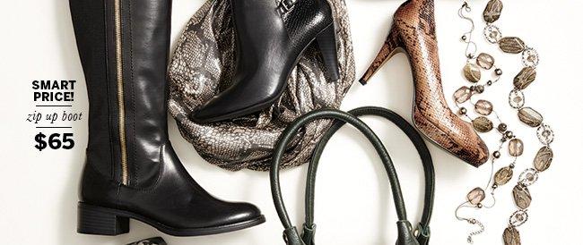Smart price! Zip up boot $65