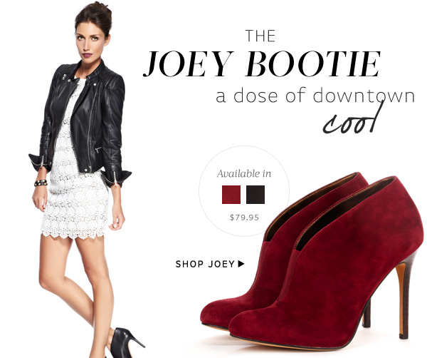 The Joey Bootie - a dose of downtown cool. Shop Joey