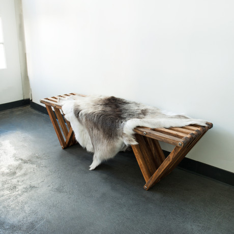 Finnish Reindeer Hide // Dark