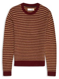 Plectrum Engineered Stripe Crew Neck Jumper