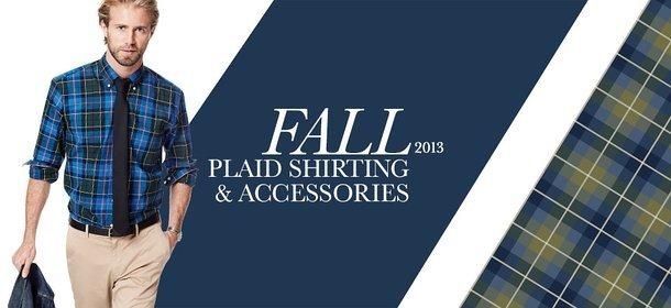 FALL 2013: PLAID SHIRTING & ACCESSORIES, Event Ends September 15, 9:00 AM PT >