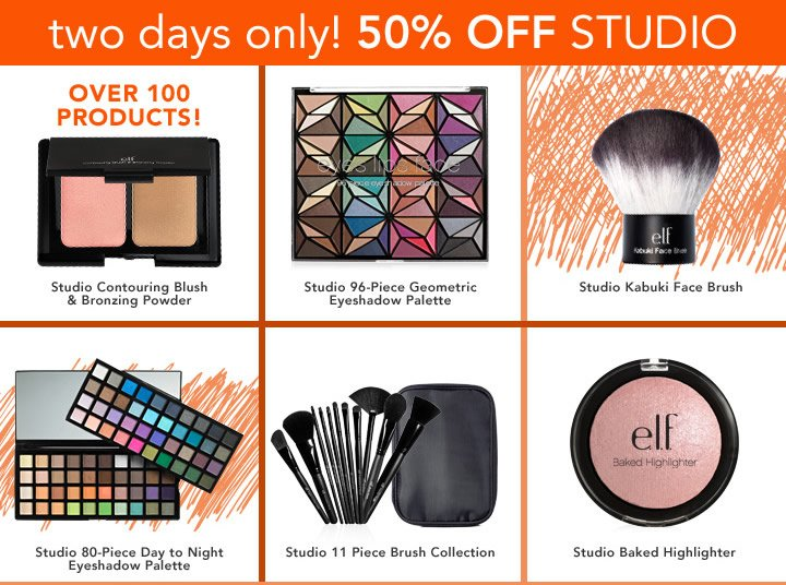 2 Days Only! 50% OFF Studio