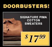 $17.99 USD - Signature Pima Cotton Sweaters