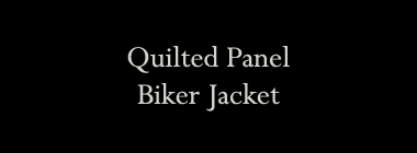 Quilted Panel Biker Jacket