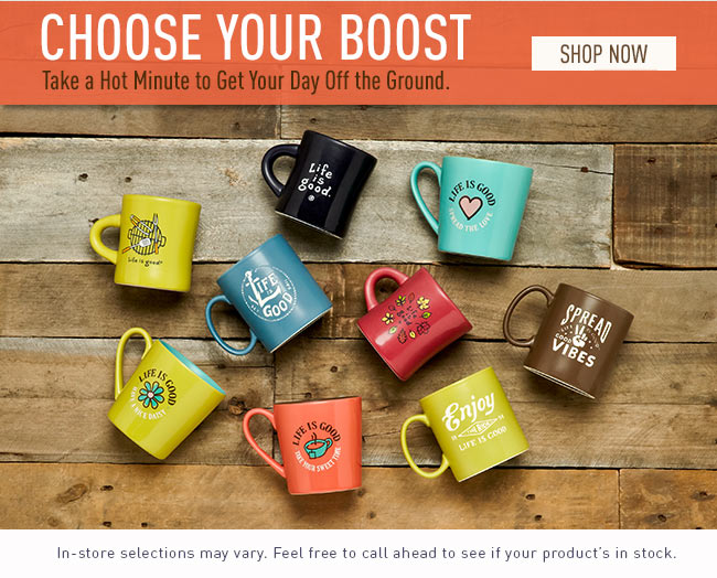 Choose Your Boost - Take a Hot Minute to Get Your Day Off the Ground