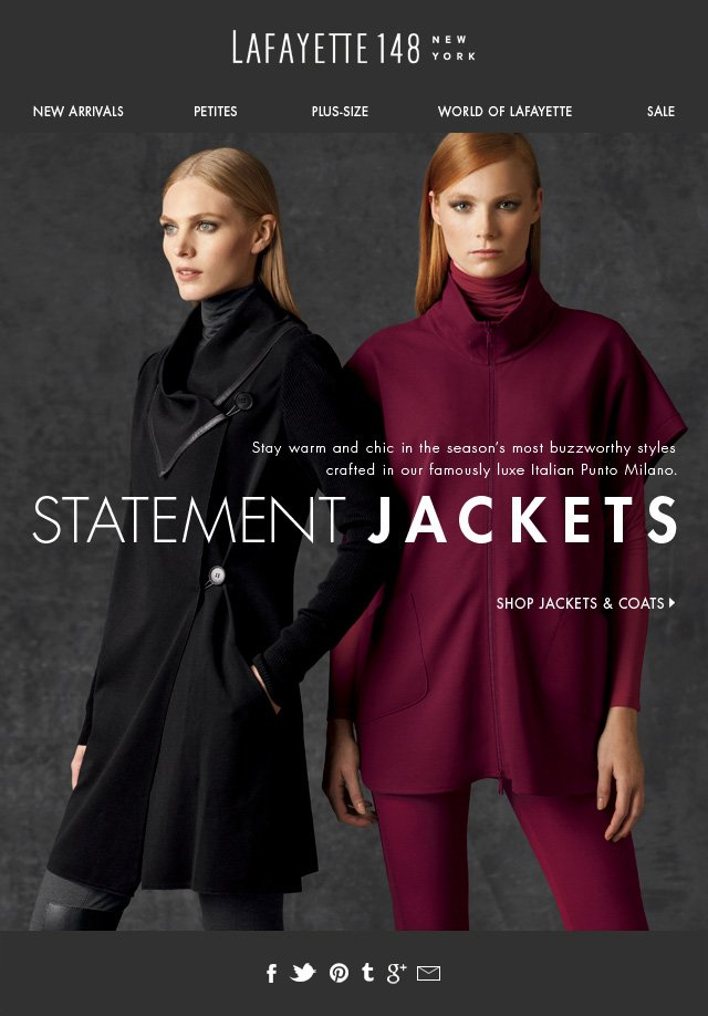 Fall's Cover Story? Statement Jackets