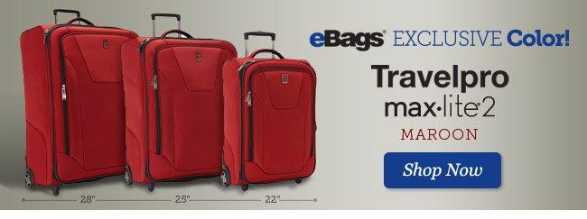 eBags Excklusive | Travelpro maxlite2 | Shop Now >