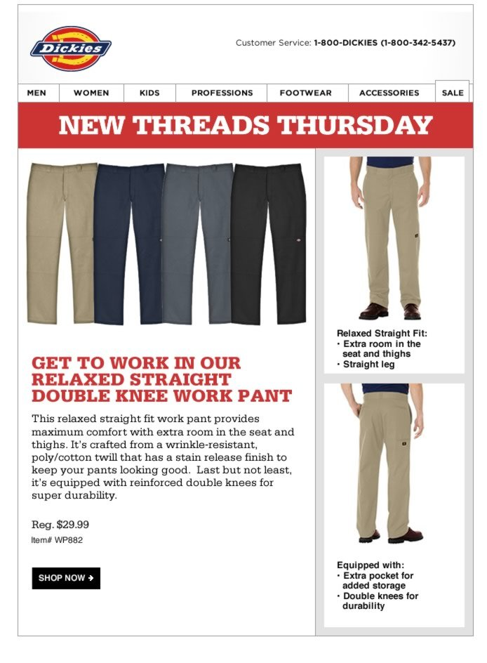 New Threads Thursday: Relaxed Straight Double Knee Pant