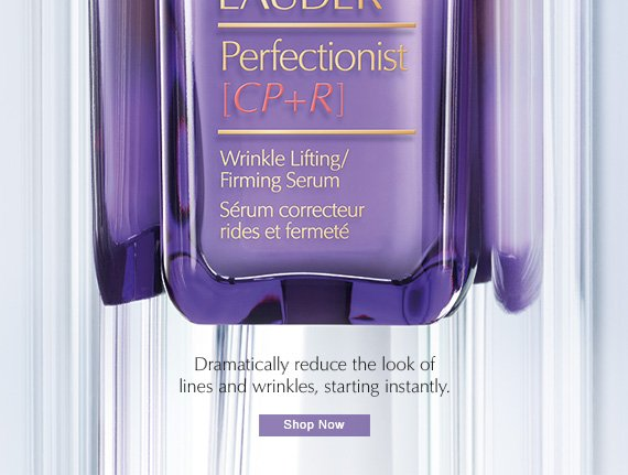 Dramatically reduce the look of lines and wrinkles, starting instantly. Shop Now »