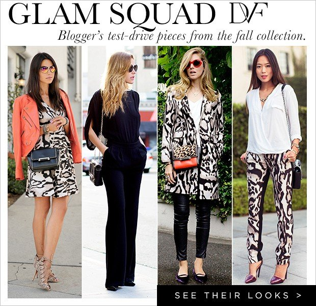 Bloggers Take DVF's Fall Collection to the Streets