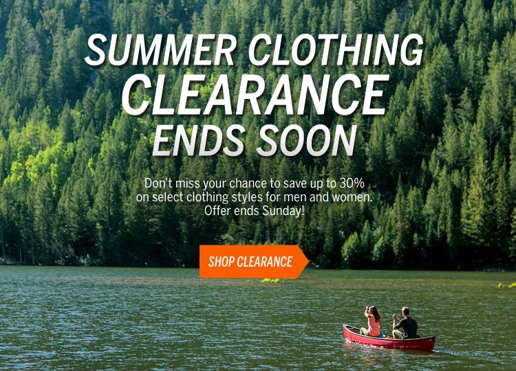 Summer Clothing Clearance Ends Soon