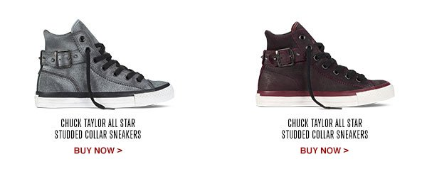 CHUCK TAYLOR ALL STAR STUDDED COLLAR SNEAKERS