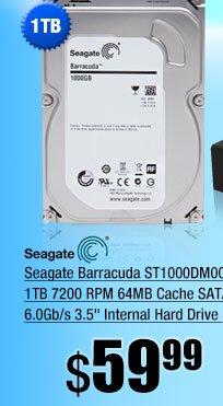 Seagate Barracuda ST1000DM003 1TB 7200 RPM 64MB Cache SATA 6.0Gb/s 3.5 inch Internal Hard Drive