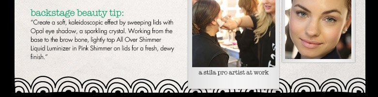 backstage beauty tip!