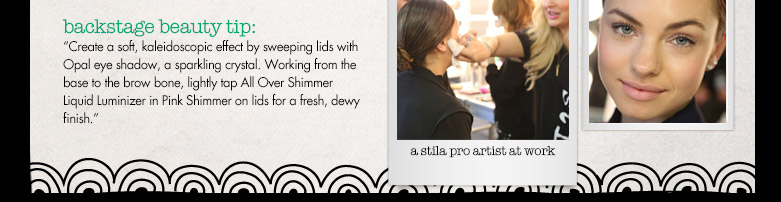 backstage beauty tip!