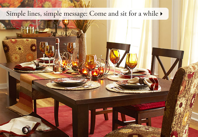 Pier 1 save on ways to get everyone to sit down for a for Pier 1 dining room centerpieces