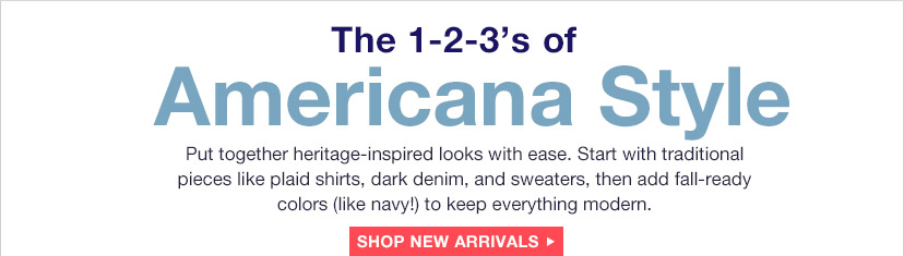 The 1-2-3's of Americana Style | SHOP NEW ARRIVALS