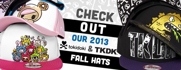 Our lids feature some of your favorite tokidoki and TKDK characters, as well as four collaborative styles with Street Fighter. Take your pick from trucker, mesh, snapback, and fitted hats. Each lid comes with a stitched logo on the back and a cool print under the lid.