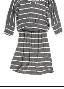 Stripe Drapey Lux Dress