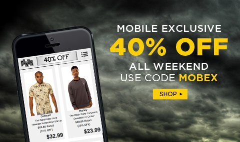 Click to get an extra 40% off on your mobile app only