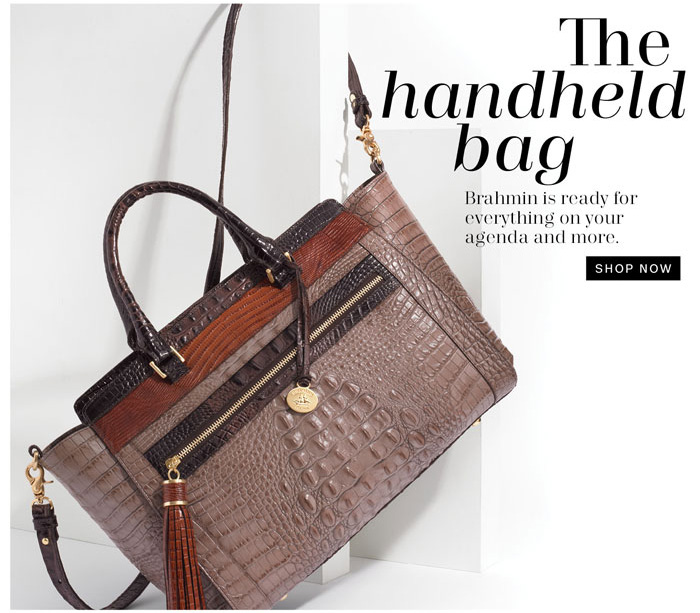 The handheld bag. Shop now.