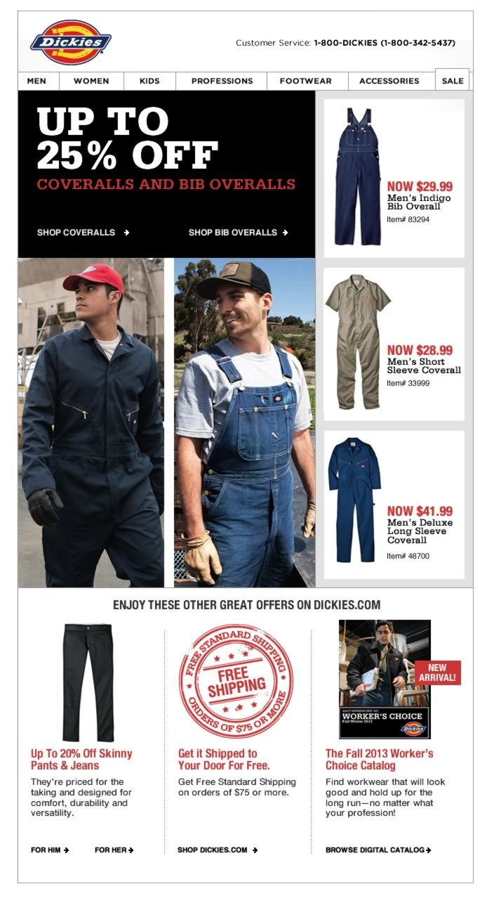 Up to 25% Off Bib Overalls + Coveralls