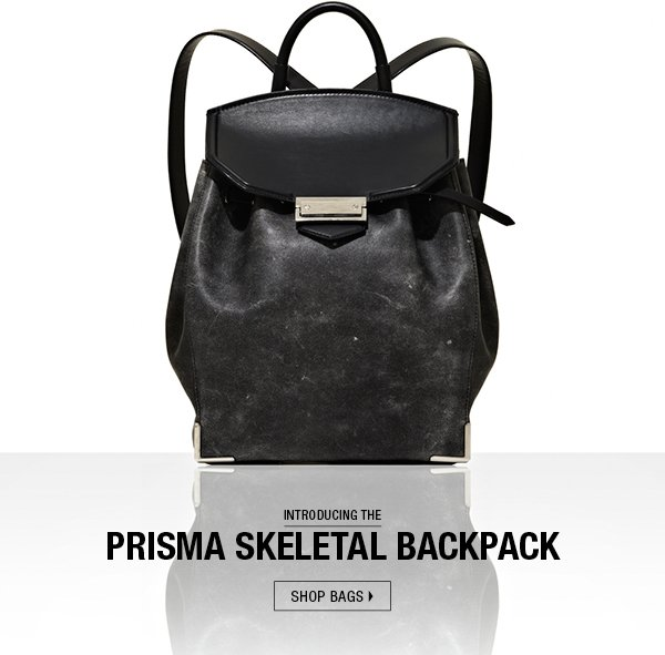 INTRODUCING THE PRISMA SKELETAL BACKPACK.  shop now.