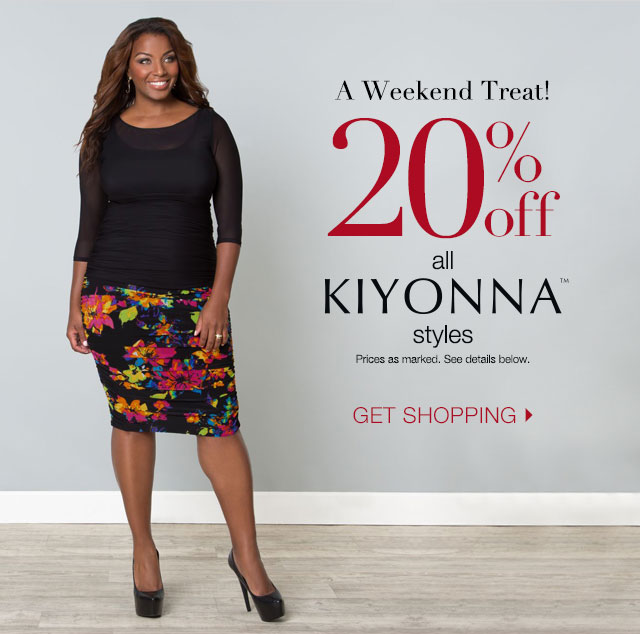 20% off all Kiyonna styles