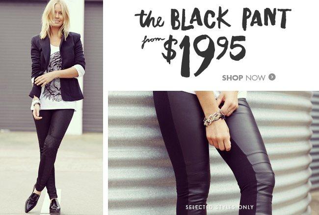 Shop the Black Pant now!