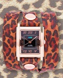 Dark Leopard Print Simple Wrap Watch