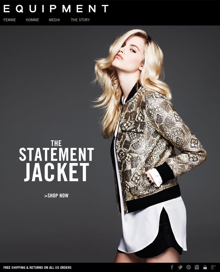 EQUIPMENT   THE STATEMENT JACKET - SHOP NOW