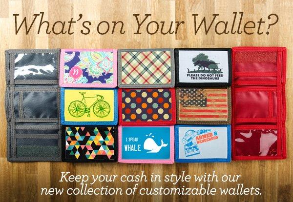 New Product on Zazzle: Custom Wallets