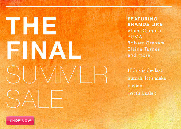 The Final Summer Sale