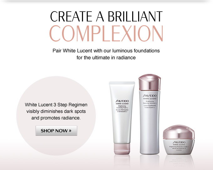 Create a Brilliant Complexion: Pair White Lucent with our luminous foundations for the ultimate in radiance
