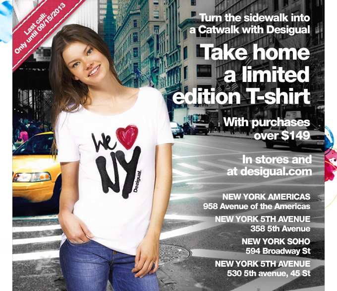 Take home a limited edition T-shirt