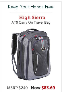 High Sierra AT6 Carry On Travel Bag