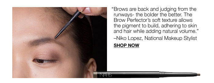 Brows are back and judging from the runways - the bolder the better.
