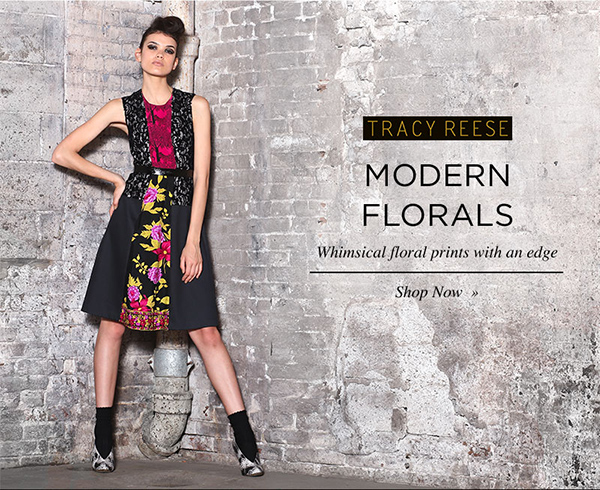 MODERN FLORALS. Whimsical floral prints with an edge. Shop Now.