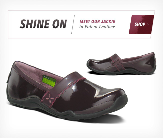 SHINE ON - MEET OUR JACKIE IN PATENT LEATHER