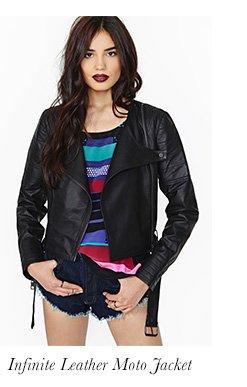 Infinite Leather Moto Jacket
