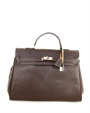 EA Top Carry Handle Satchel Made In Italy