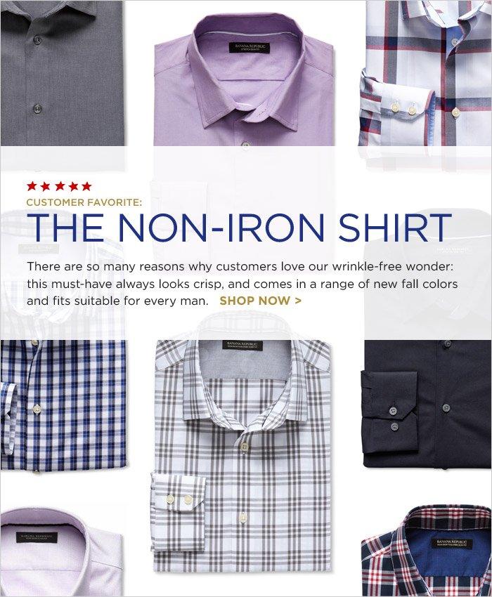 CUSTOMER FAVORITE: THE NON-IRON SHIRT | SHOP NOW