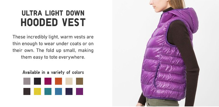 ULTRA LIGHT DOWN HOODED VEST