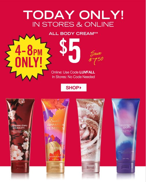 Signature Collection Body Cream – $5